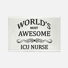World's Most Awesome ICU Nurse Rectangle Magnet