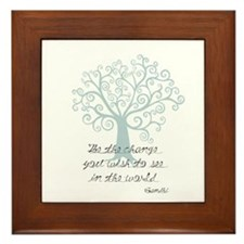 Be the Change Tree Framed Tile