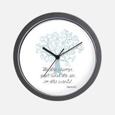 Be the Change Tree Wall Clock