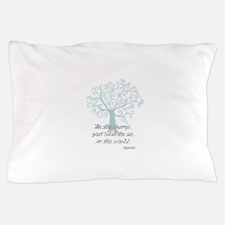 Be the Change Tree Pillow Case