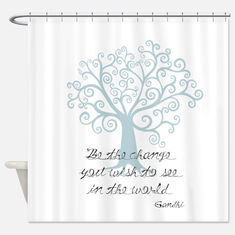 Be the Change Tree Shower Curtain