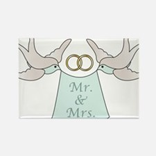 Mr and Mrs Rectangle Magnet