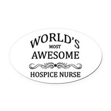 World's Most Awesome Hospice Nurse Oval Car Magnet