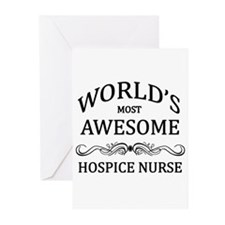 World's Most Awesome Hospice Nurse Greeting Cards