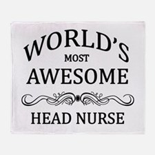 World's Most Awesome Head Nurse Throw Blanket