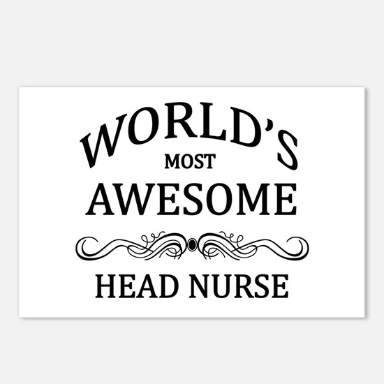 World's Most Awesome Head Nurse Postcards (Package