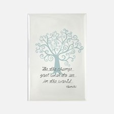 Be the Change Tree Rectangle Magnet (100 pack)