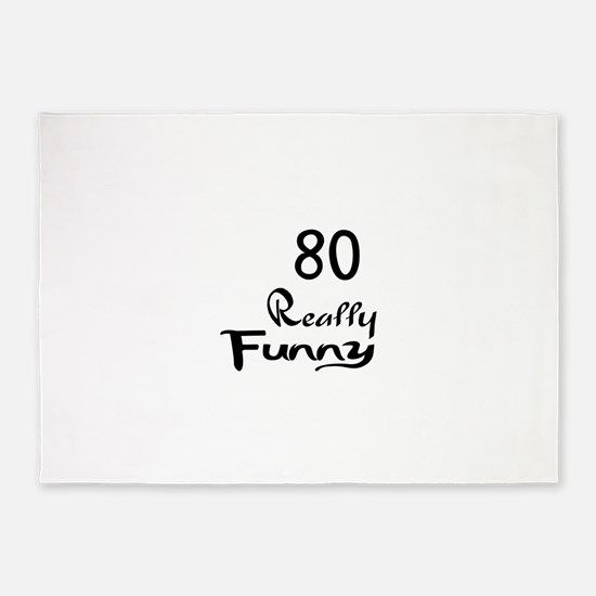 80 Really Funny Birthday Designs 5'x7'Area Rug