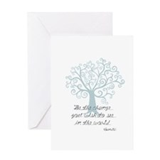 Be the Change Tree Greeting Card