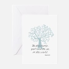 Be the Change Tree Greeting Cards (Pk of 10)