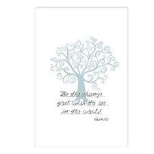 Be the Change Tree Postcards (Package of 8)