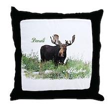 Danali AK Moose Throw Pillow