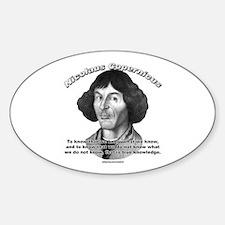Nicolaus Copernicus 01 Oval Decal