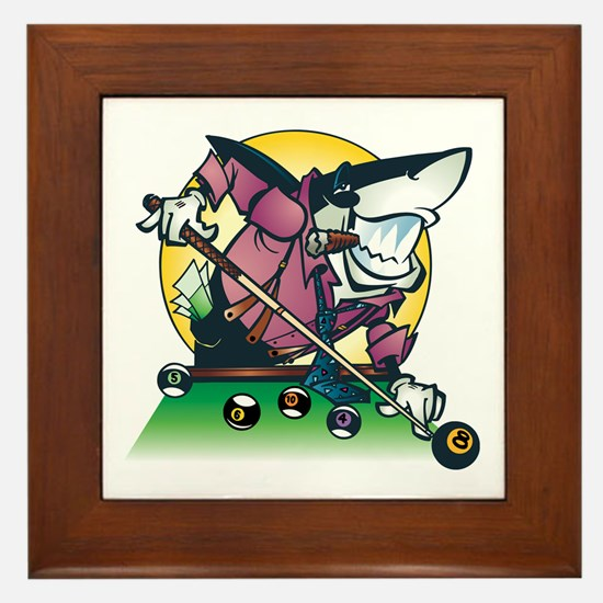 Pool Shark Framed Tile