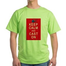 Keep Calm and Cast On Knitting Design T-Shirt