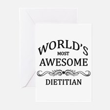 World's Most Awesome Dietitian Greeting Cards (Pk