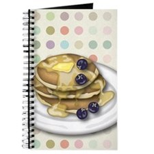 Pancakes With Syrup And Blueberries Journal