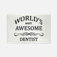 World's Most Awesome Dentist Rectangle Magnet