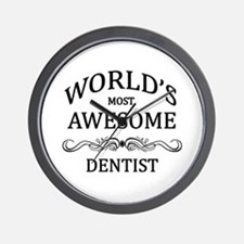 World's Most Awesome Dentist Wall Clock