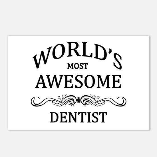 World's Most Awesome Dentist Postcards (Package of