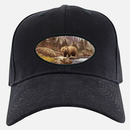 Grizzly Bear Landscape Baseball Hat