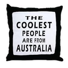 The Coolest Australia Designs Throw Pillow