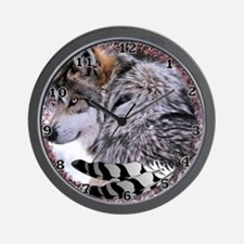Lace Wolf Wall Clock