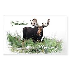 Yellowstone WY Moose Decal