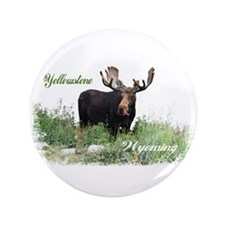 """Yellowstone WY Moose 3.5"""" Button"""