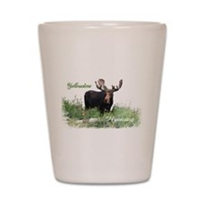 Yellowstone WY Moose Shot Glass