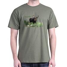 Grand Tetons WY Moose T-Shirt