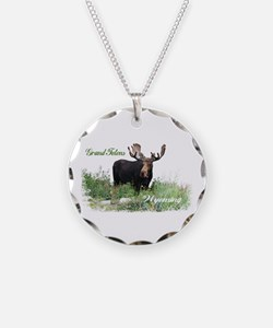 Grand Tetons WY Moose Necklace
