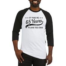 Funny 65th Birthday Baseball Jersey