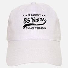 Funny 65th Birthday Baseball Baseball Cap