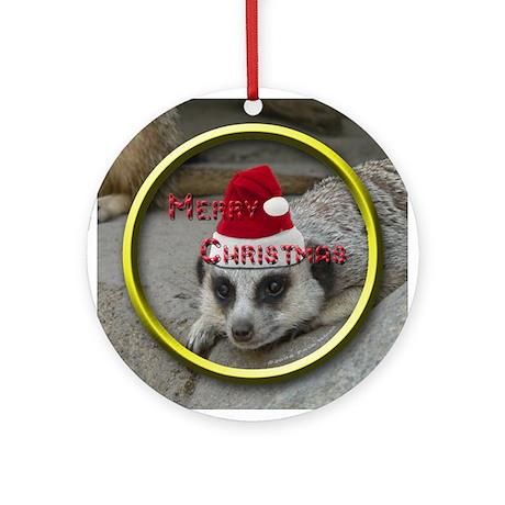 """Meerkat Christmas"" Ornament (Round)"