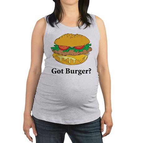 Got Burger Maternity Tank Top
