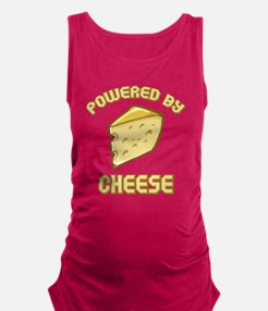 Powered By Cheese Maternity Tank Top