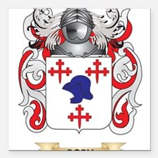 """Dobson Coat of Arms Square Car Magnet 3"""" x 3"""""""