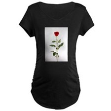 Single Red Long Stem Rose T-Shirt