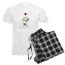 Single Red Long Stem Rose Pajamas