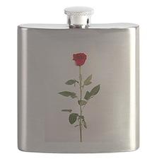 Single Red Long Stem Rose Flask