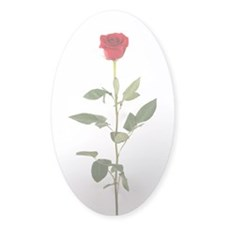 Single Red Long Stem Rose Decal
