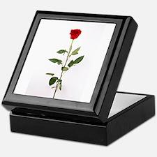 Single Red Long Stem Rose Keepsake Box