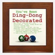 You've Been Ding-Dong Decorat Framed Tile