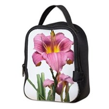 cut pink daylilly Neoprene Lunch Bag