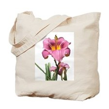 cut pink daylilly Tote Bag