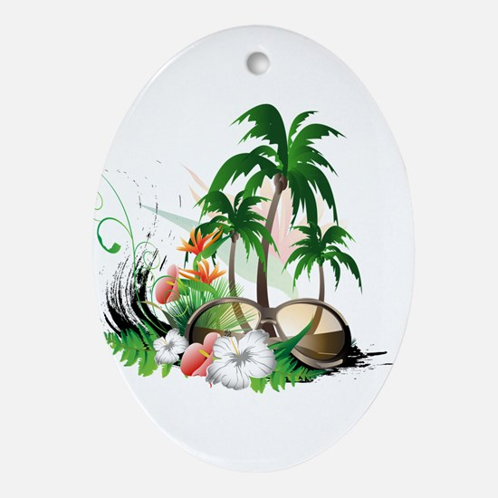 Summer Background, Ornament (Oval)
