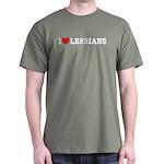 I Love Lesbians Dark T-Shirt
