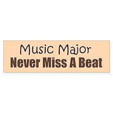 Fun Music Major Bumper Bumper Sticker