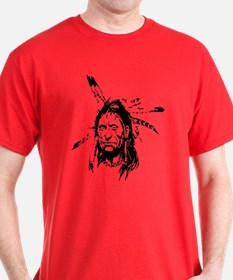Native Warrior Four Feathers T-Shirt